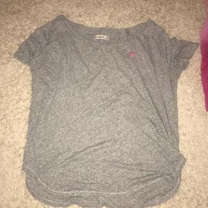 ABERCROMBIE & FITCH GRAY T SHIRT